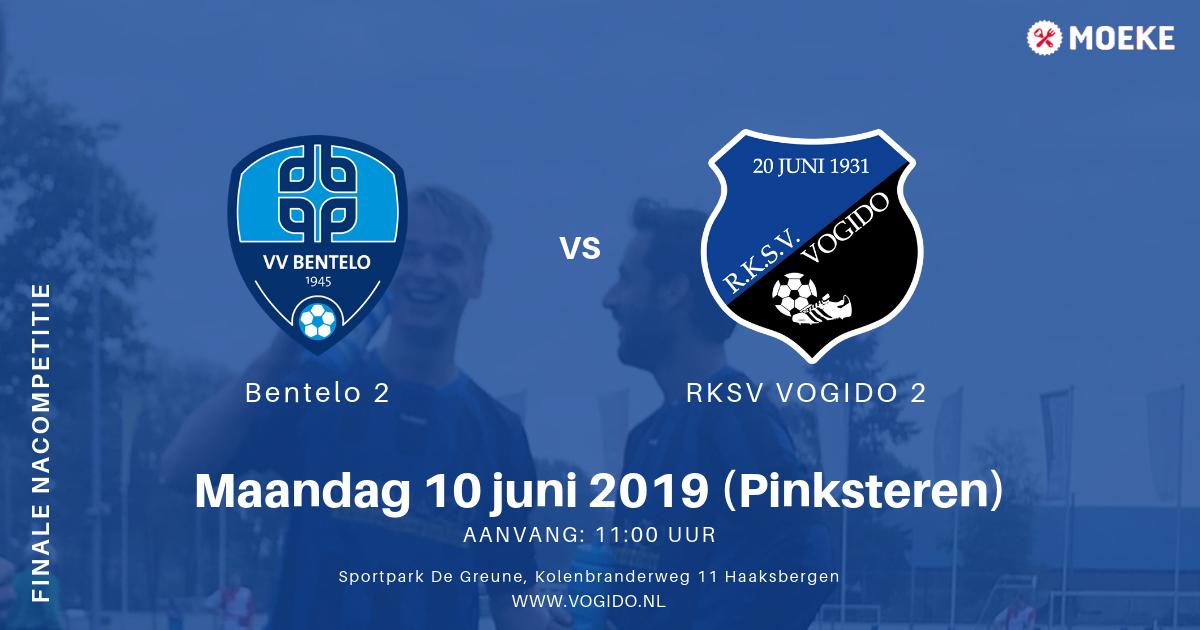 Finalewedstrijd VOGIDO 2 voor handhaving tegen Bentelo 2 (in Haaksbergen)