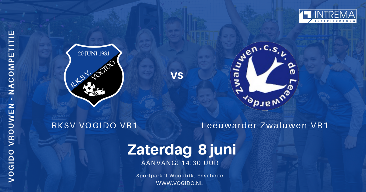 VOGIDO vrouwen 1 elftal gaat voor promotie - halve finale 8 juni