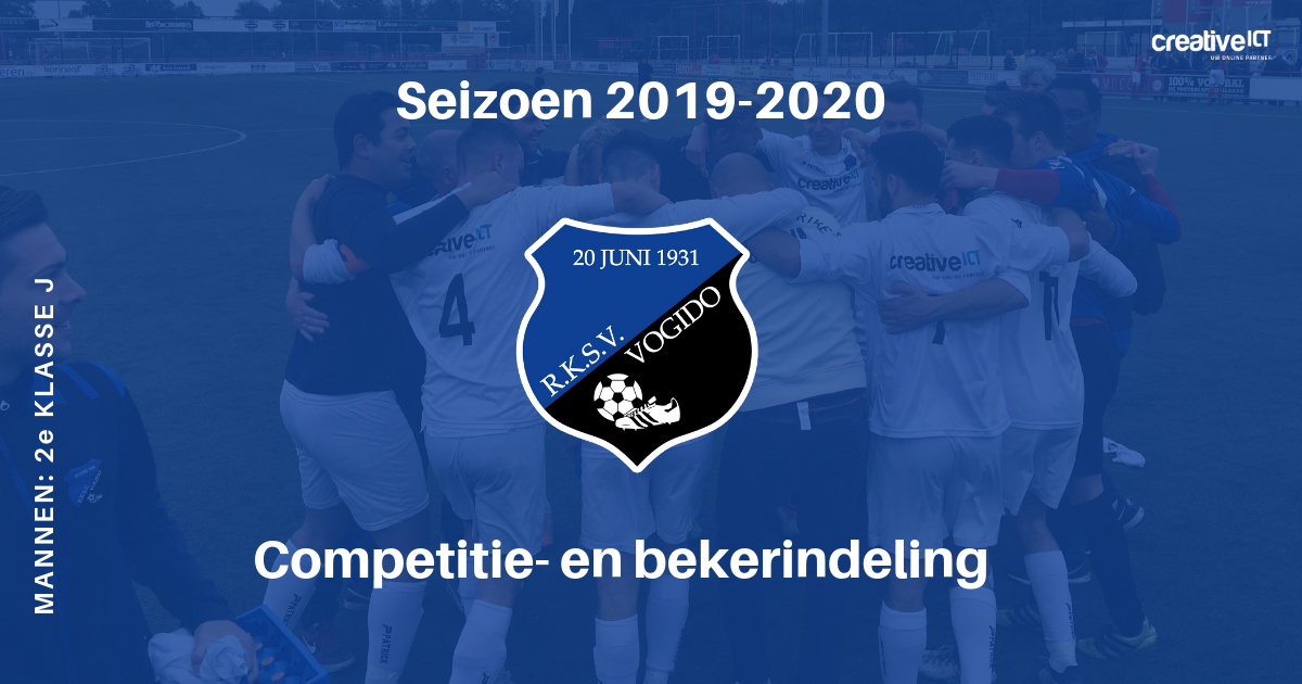 VOGIDO 1 Competitie- en bekerindeling seizoen 2019-2020