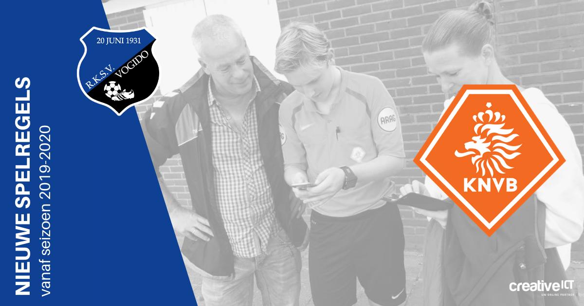 De nieuwe spelregels vanaf seizoen 2019-2020 (KNVB)