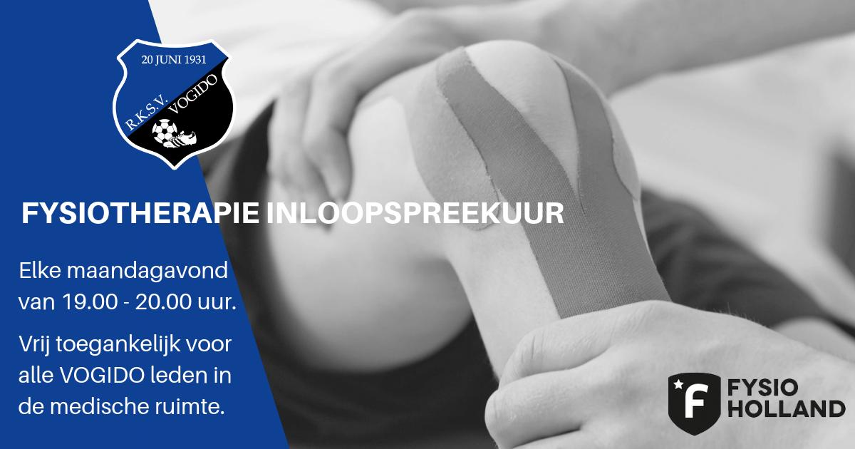 Start fysiotherapie inloopspreekuur - wekelijks vanaf maandag 2 september