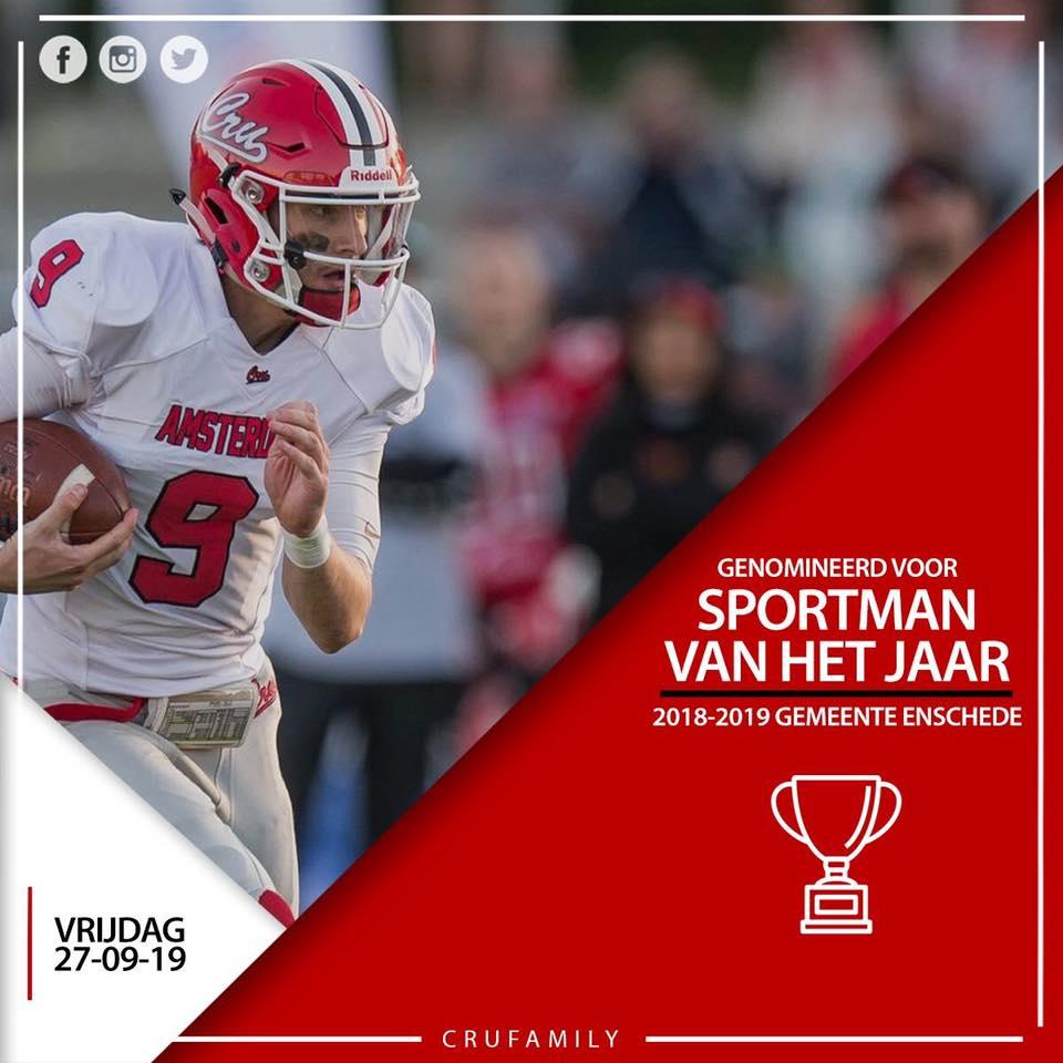 Stem op Jasper Nijland als Sportman van het jaar 2019 Enschede!