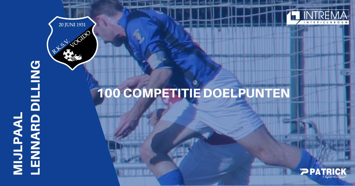 Mijlpaal voor Lennard Dilling - 100 competitie doelpunten!