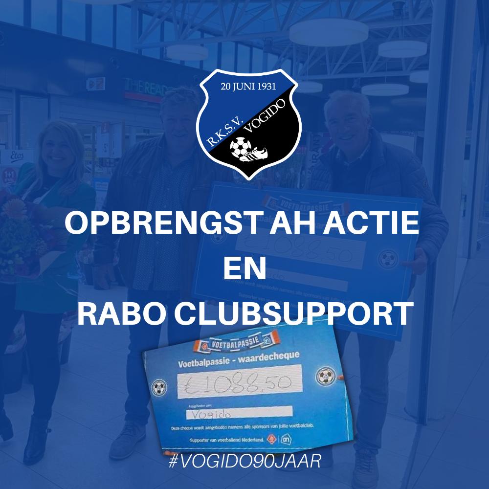 Opbrengst AH actie & Rabo ClubSupport