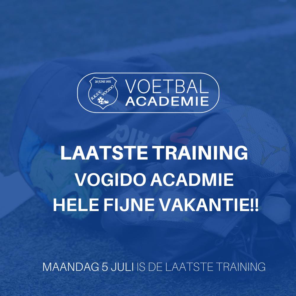 Laatste training Academie (ma 5 juli)