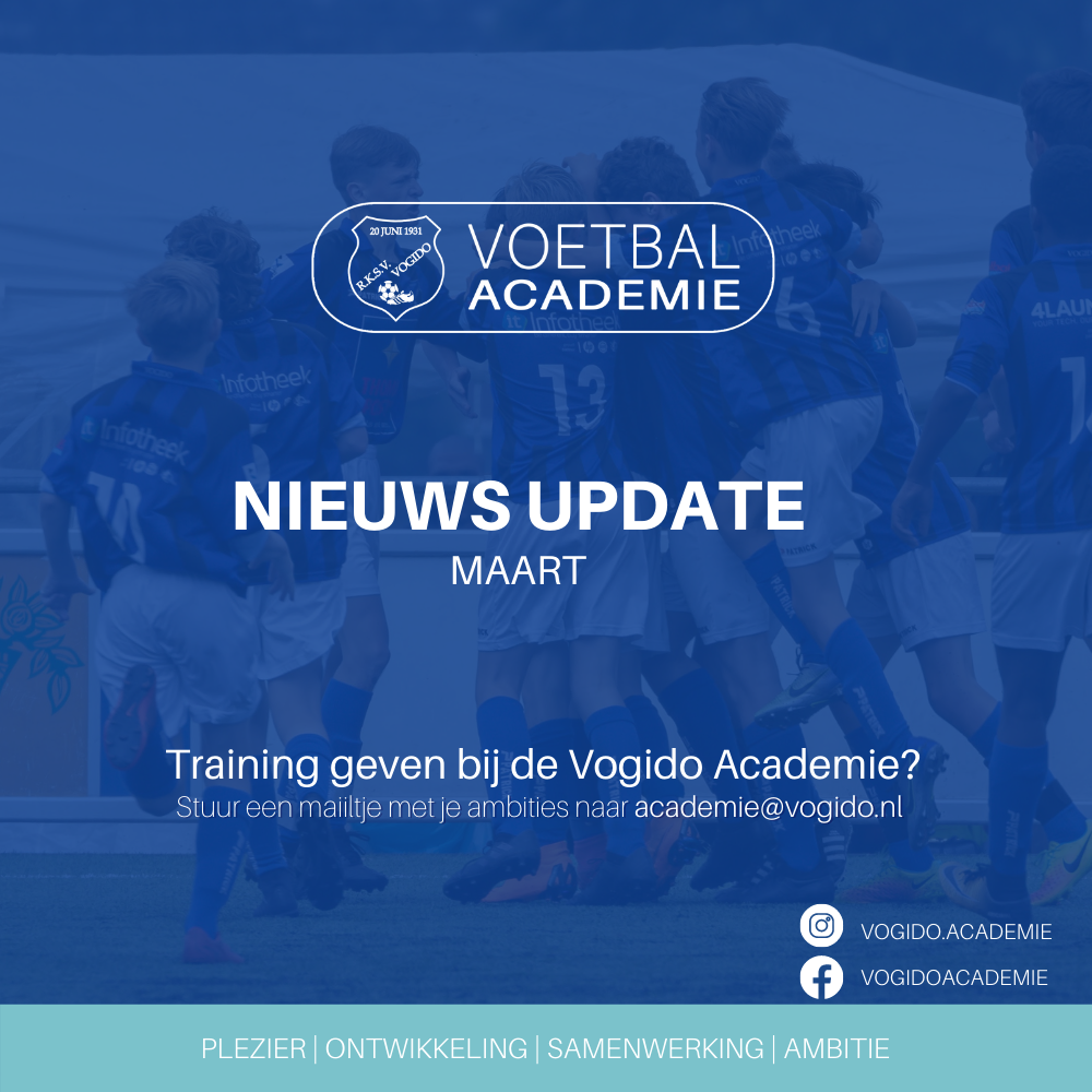 Nieuws update Voetbal Academie Maart 2021