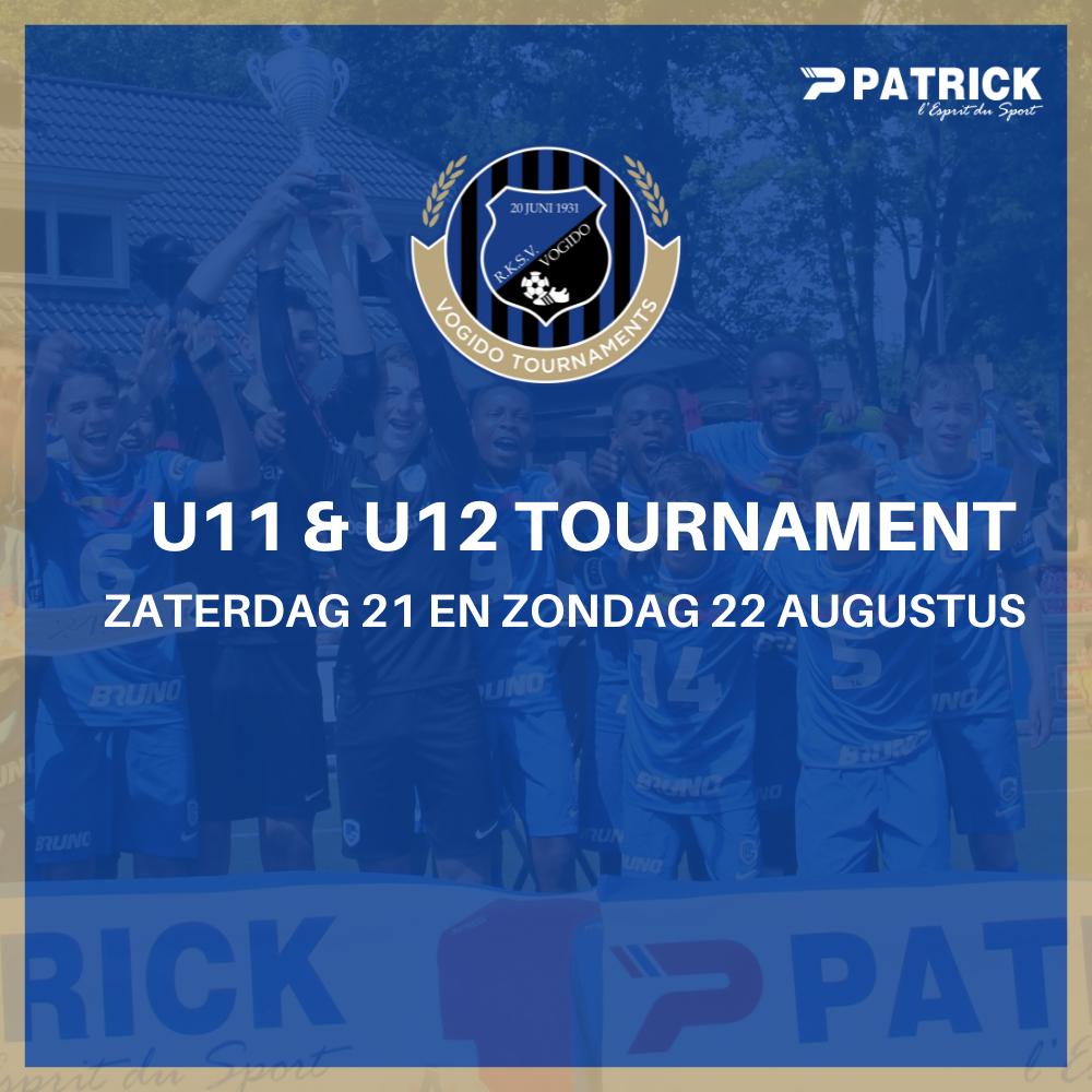 U11 en U12 Tournament in het weekend van 21 en 22 augustus