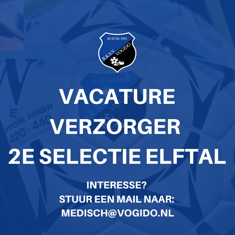 Vacature verzorger 2e selectie elftal