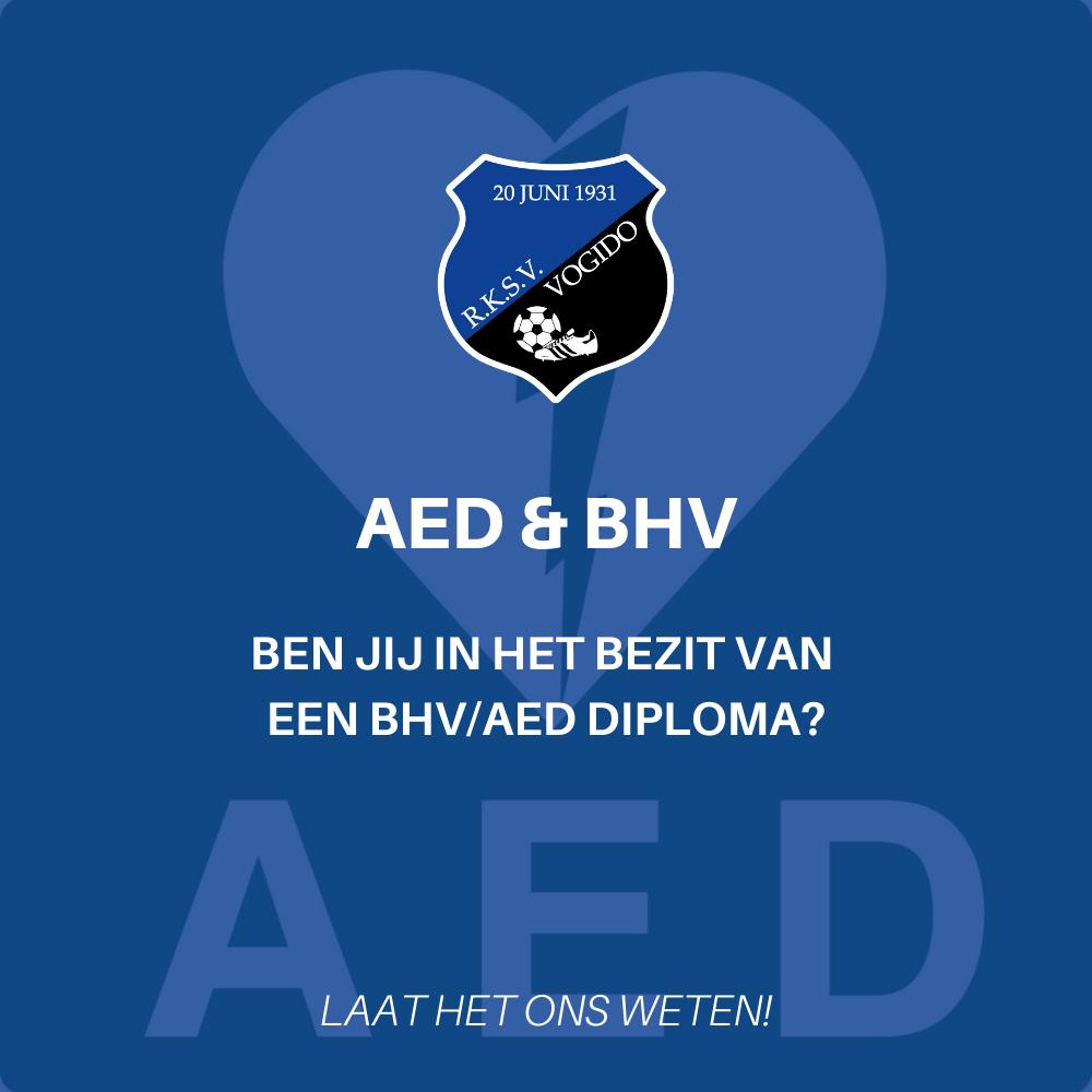 Ben jij in het bezit van een BHV/AED diploma?
