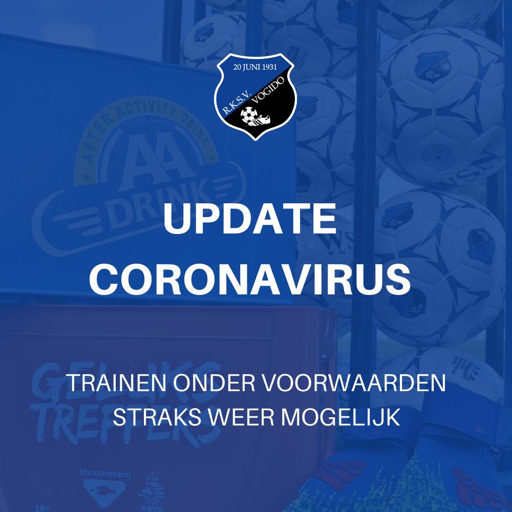 Corona update: trainen straks weer mogelijk!