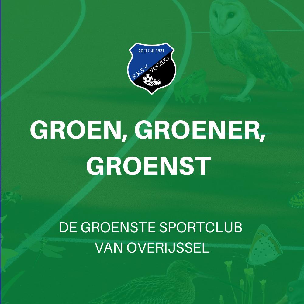 Groenste sportvereniging van Overijssel! Kijk mee met de finale