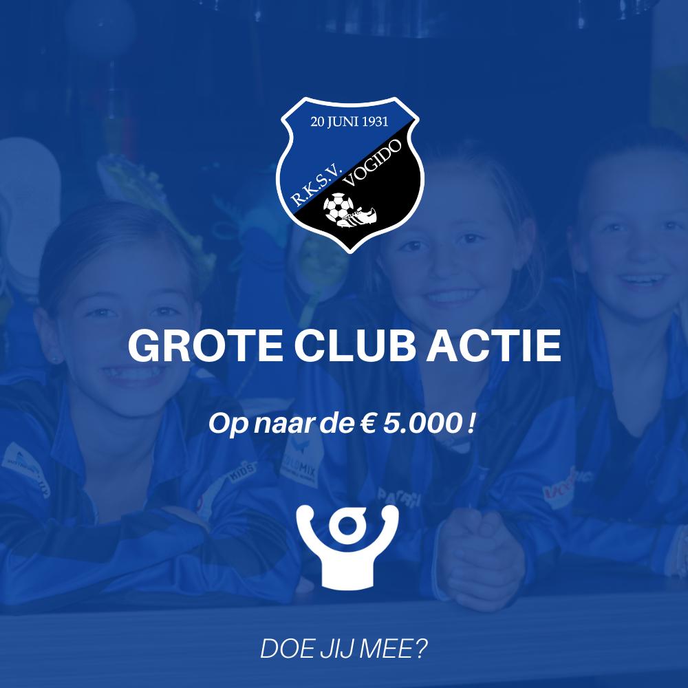 Grote clubactie: op naar de 5000 euro!