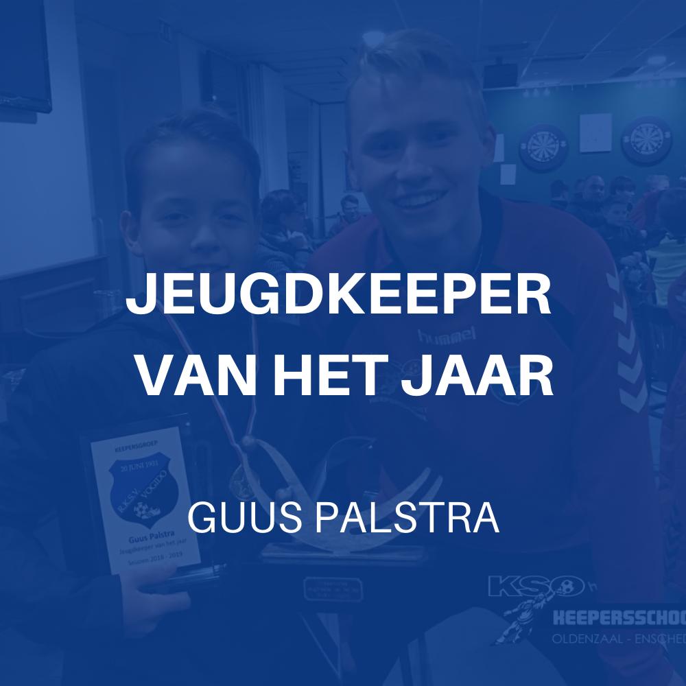 Jeugdkeeper van het jaar: Guus Palstra (JO13-3)