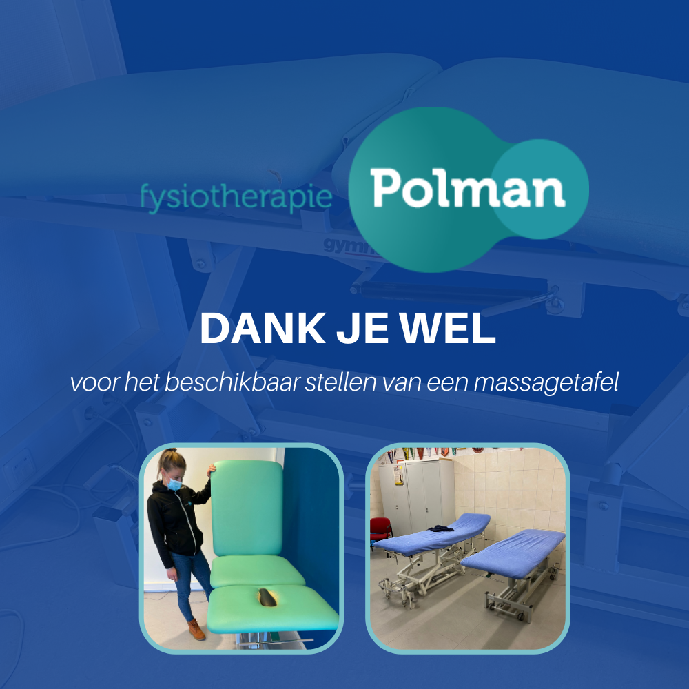Dank aan Fysiotherapie Polman voor de massagetafel.