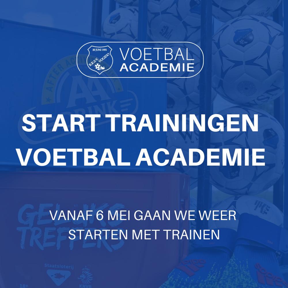 Start trainingen Voetbal Academie