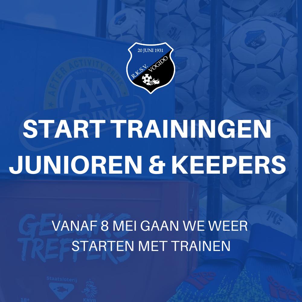 Schema trainingen junioren & keepers